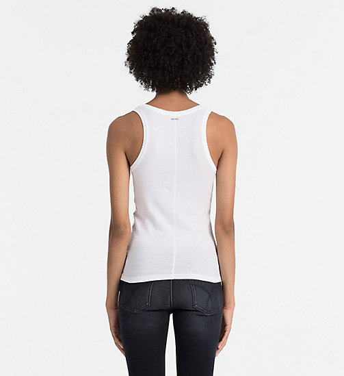 Rib-Jersey Tank Top - BRIGHT WHITE - CK JEANS T-SHIRTS - detail image 1