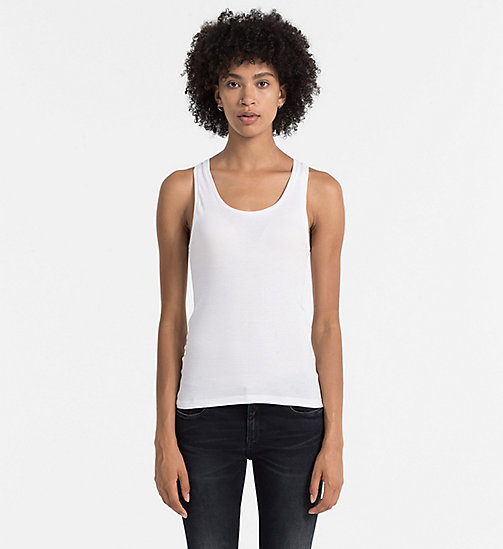 Rib-Jersey Tank Top - BRIGHT WHITE - CK JEANS T-SHIRTS - main image