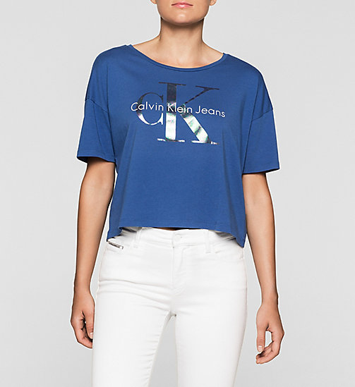 Cropped Logo T-shirt - SODALITE BLUE - CK JEANS T-SHIRTS - main image