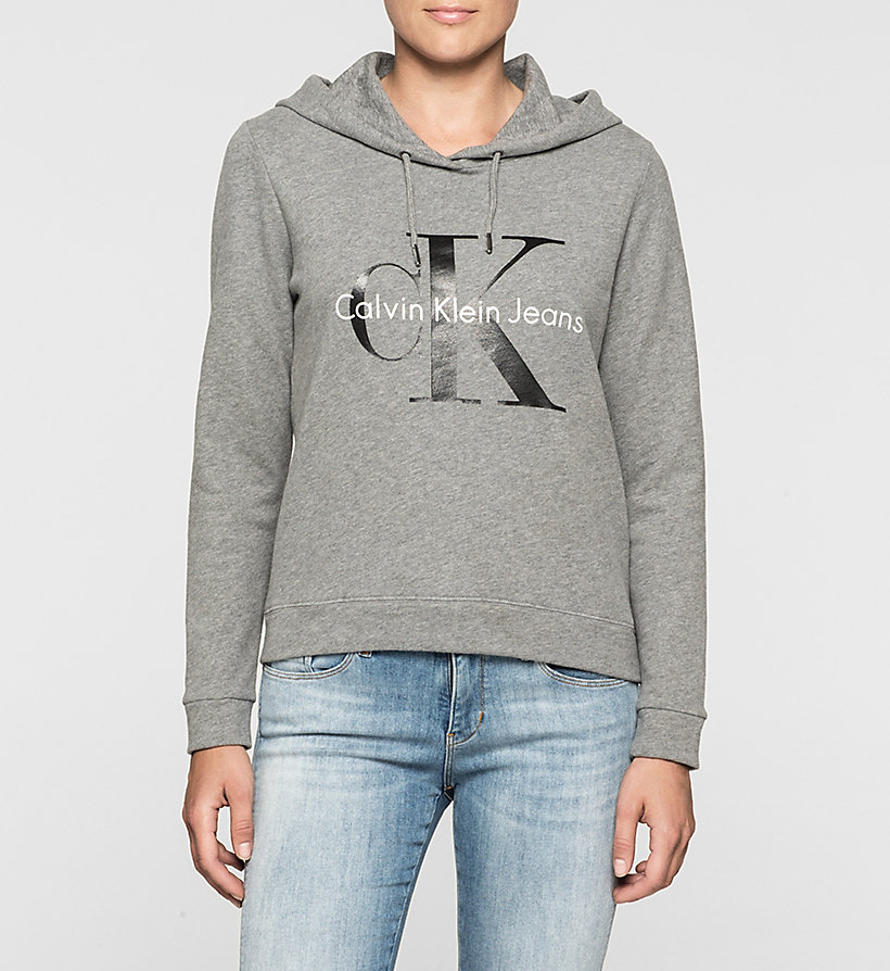 CKJEANS Logo Hoodie - LIGHT GREY HEATHER BC04 - VOL39 - CK JEANS UNDERWEAR - main image