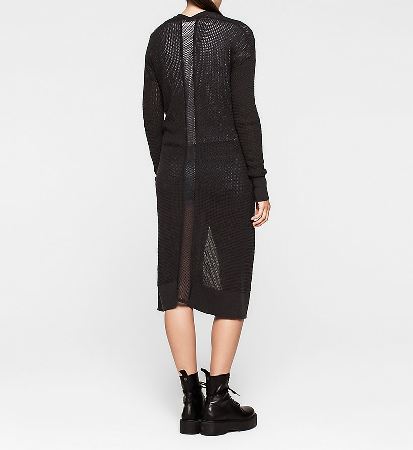 CKJEANS Long Mesh-Panelled Cardigan - CK BLACK - CK JEANS JUMPERS - detail image 1