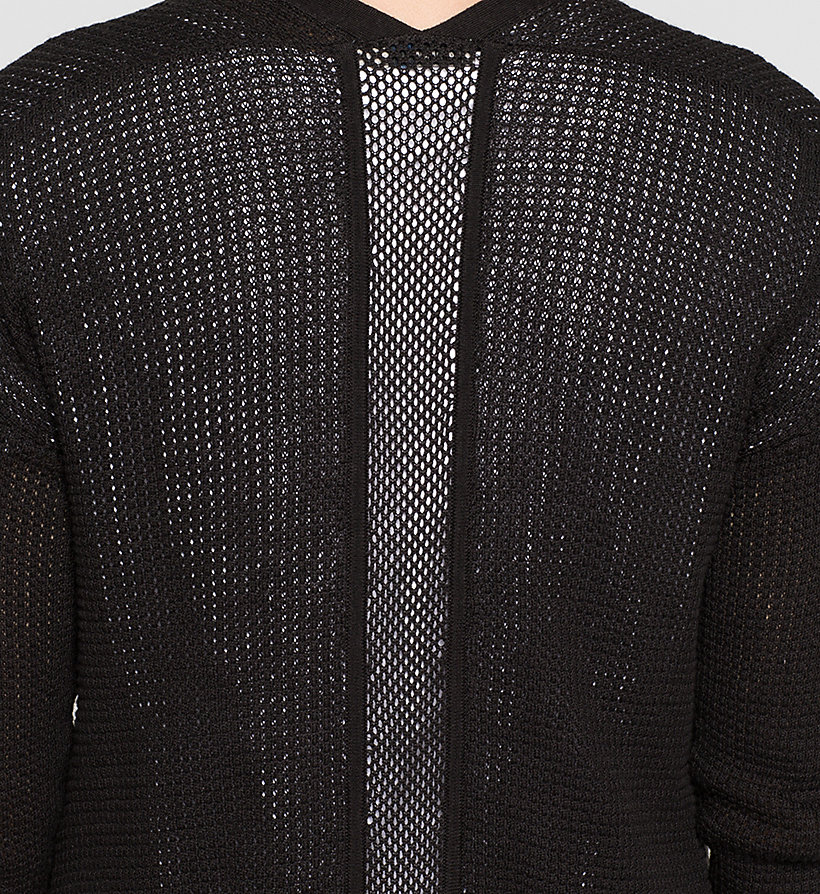 CKJEANS Long Mesh-Panelled Cardigan - CK BLACK - CK JEANS JUMPERS - detail image 2