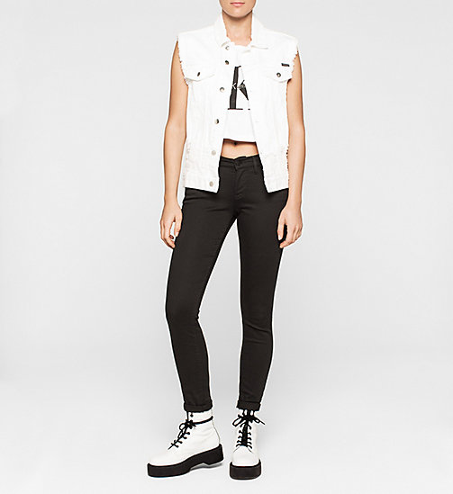 Cropped Logo Tank Top - BRIGHT WHITE - CK JEANS T-SHIRTS - detail image 1