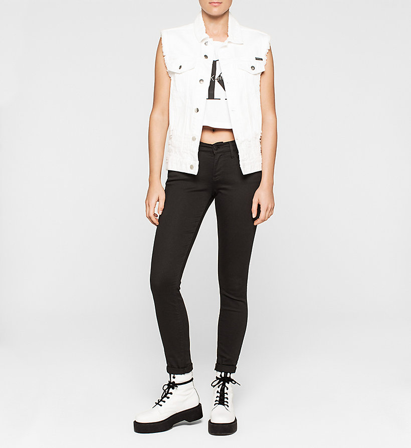 CKJEANS Cropped Logo Tank Top - BRIGHT WHITE - CK JEANS CLOTHES - detail image 1