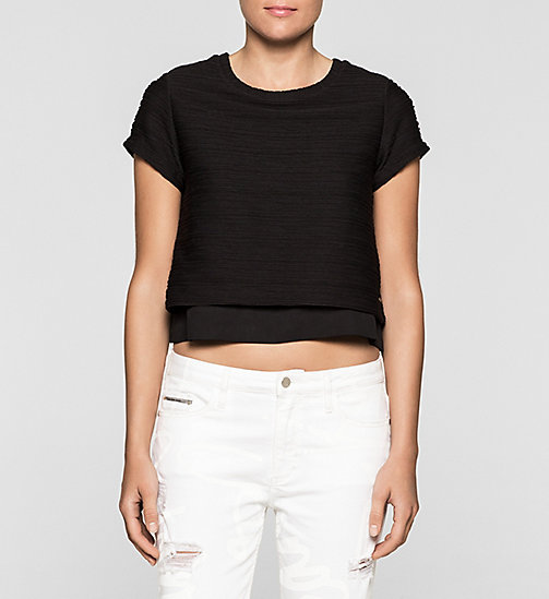 Cropped Top - CK BLACK - CK JEANS  - main image