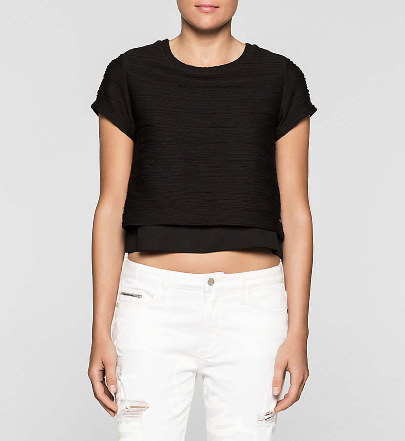 CKJEANS Cropped Top - CK BLACK - CK JEANS CLOTHES - main image