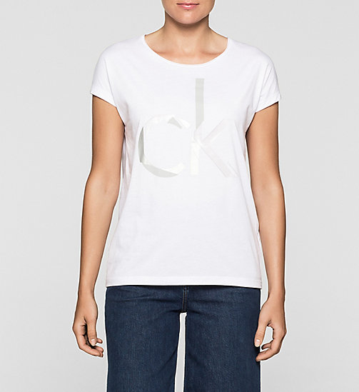 Straight Logo T-shirt - BRIGHT WHITE - CK JEANS CLOTHES - main image