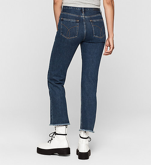 High Rise Straight Cropped Jeans - STONEY BLUE - CK JEANS JEANS - detail image 1