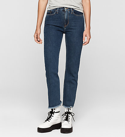 CALVIN KLEIN JEANS High-Rise Straight-Cropped-Jeans J20J204885912