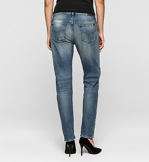 Mid Rise Slim Boyfriend Jeans - BLUE RIDDIM DESTRUCTED - CK JEANS CLOTHES - detail image 1