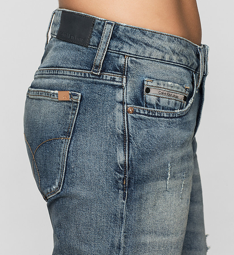 CKJEANS Mid Rise Slim Boyfriend Jeans - BLUE RIDDIM DESTRUCTED - CK JEANS CLOTHES - detail image 2