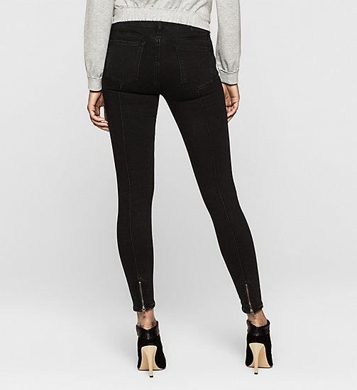 Mid Rise Super Skinny Jeans - CHIPPED MIDNIGHT - CK JEANS CLOTHES - detail image 1