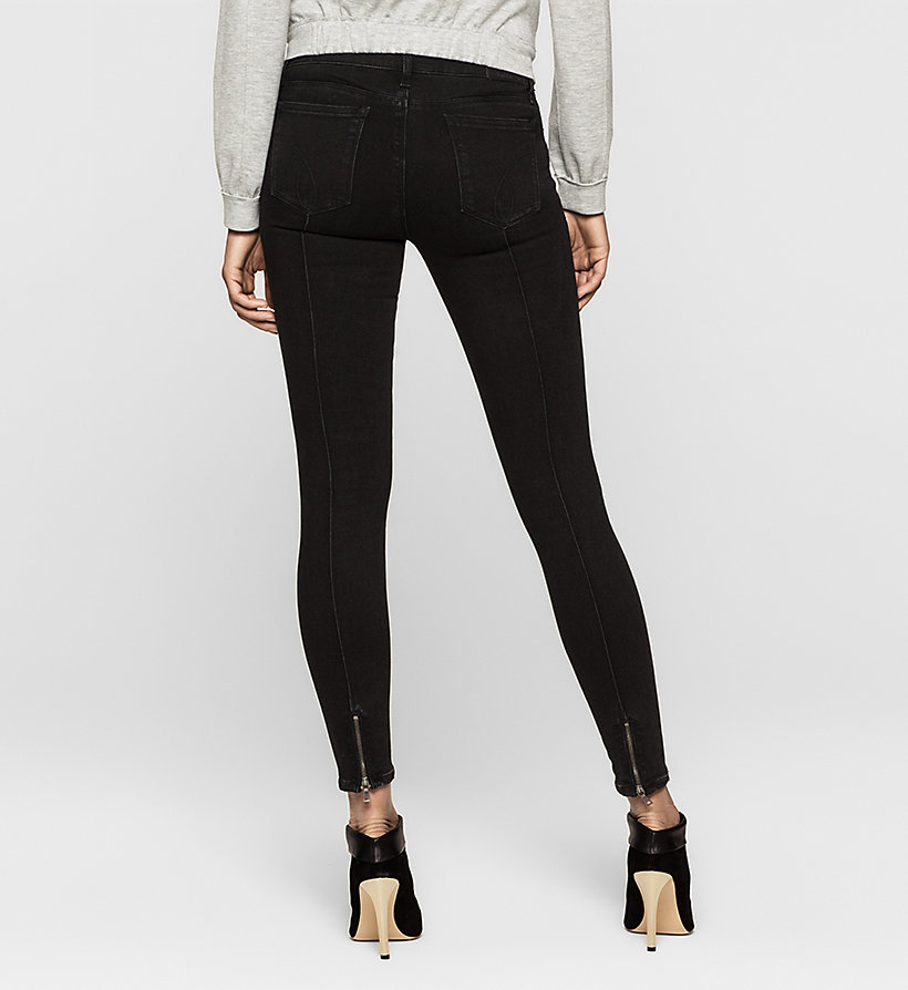 CKJEANS Mid Rise Super Skinny Jeans - CHIPPED MIDNIGHT - CK JEANS CLOTHES - detail image 1