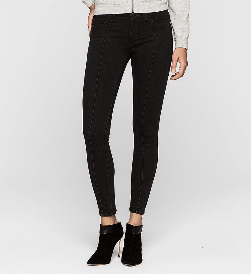 CKJEANS Mid-Rise Super-Skinny-Jeans - CHIPPED MIDNIGHT - CK JEANS JEANS - main image