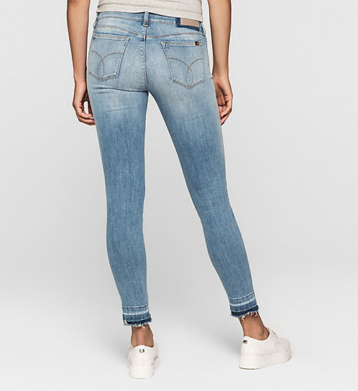 Mid Rise Skinny Twisted Ankle Jeans - UNUSUAL BLUE - CK JEANS JEANS - detail image 1
