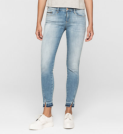 CALVIN KLEIN JEANS Mid-Rise Skinny-Twisted-Ankle-Jeans J20J204902913