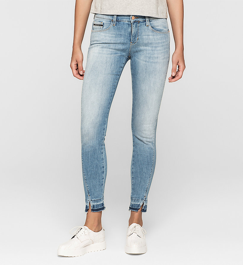CKJEANS Mid Rise Skinny Twisted Ankle Jeans - UNUSUAL BLUE - CK JEANS CLOTHES - main image