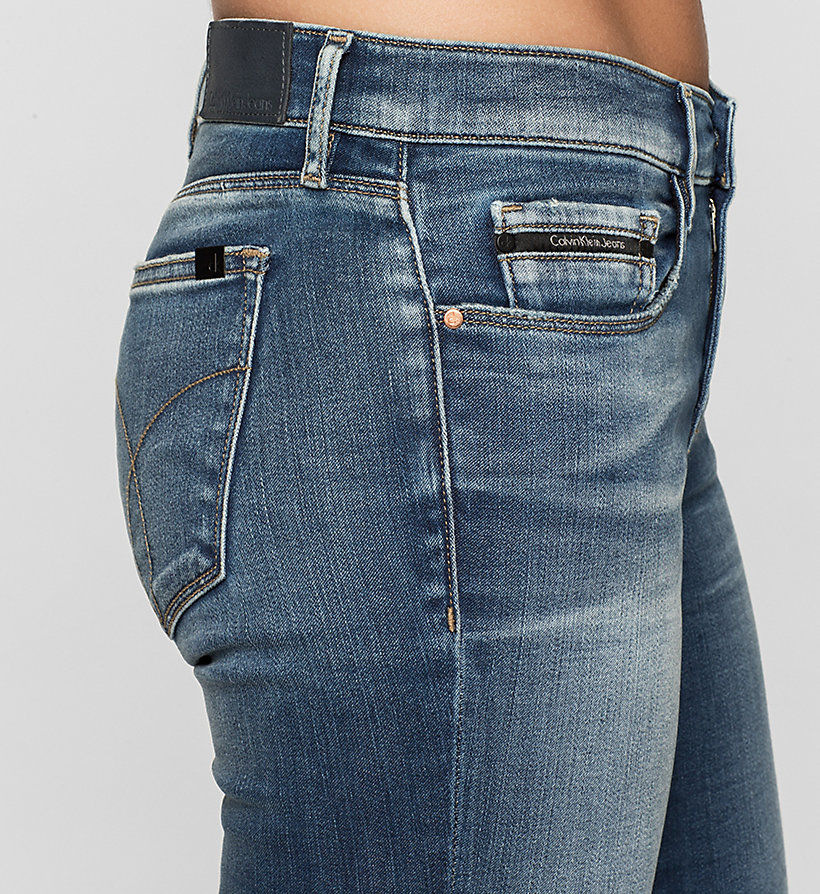 CKJEANS Mid-Rise Skinny-Jeans - BLUE REVIVAL - CK JEANS JEANS - main image 2