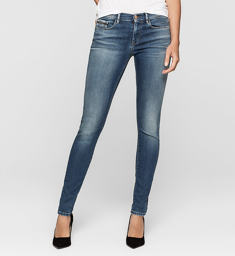 CKJEANS Mid-Rise Skinny-Jeans - BLUE REVIVAL - CK JEANS JEANS - main image