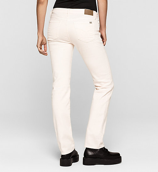 CKJEANS Mid Rise Straight Jeans - DESTRUCTED ROSE - CK JEANS  - detail image 1