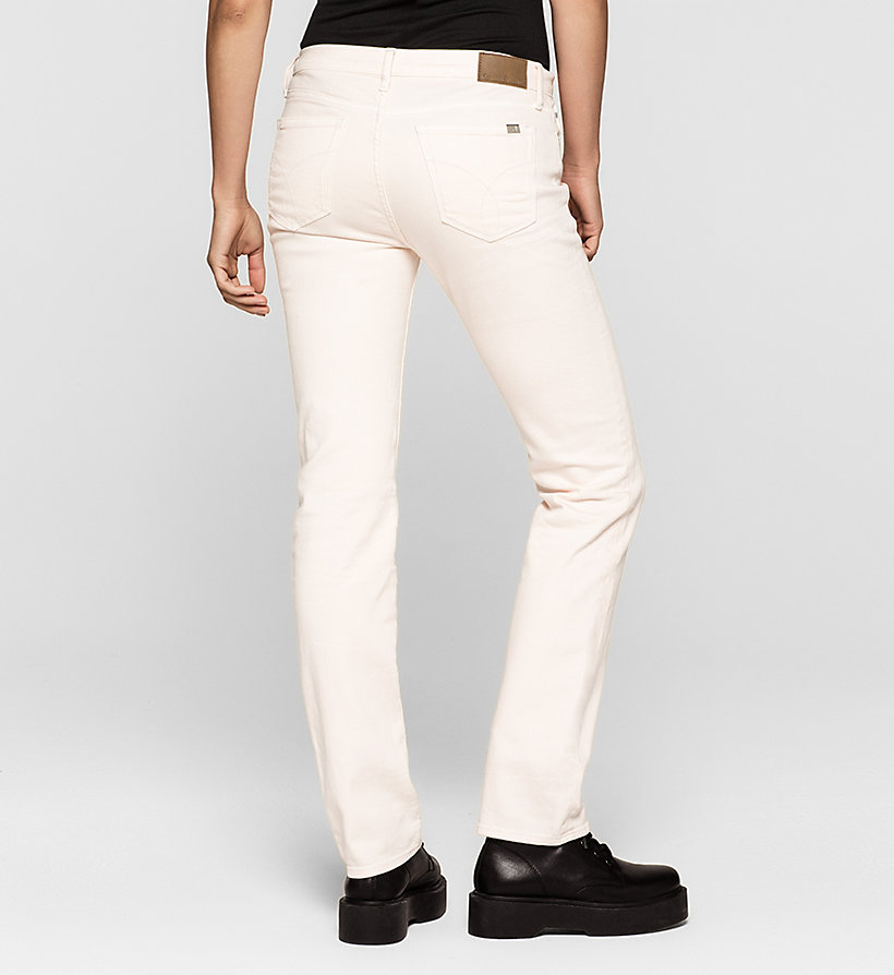 CKJEANS Mid-Rise Straight-Jeans - DESTRUCTED ROSE - CK JEANS JEANS - main image 1