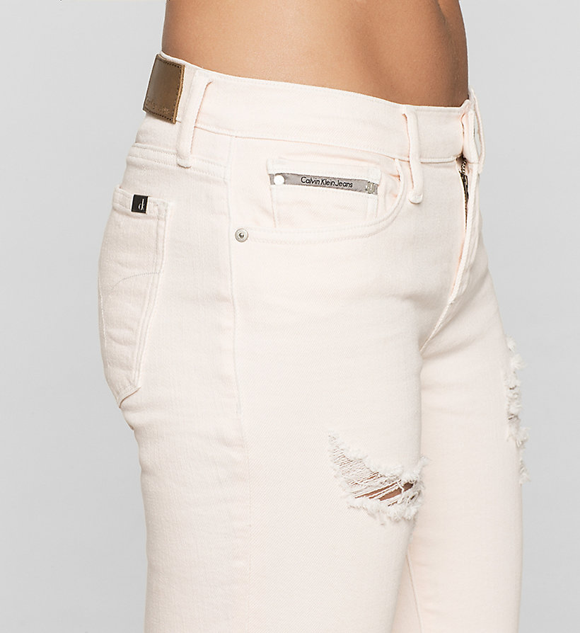 CKJEANS Mid-Rise Straight-Jeans - DESTRUCTED ROSE - CK JEANS JEANS - main image 2