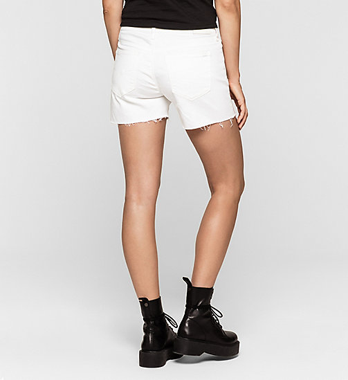 CKJEANS Cut-off Denim Shorts - INFINITE WHITE COMFORT - CK JEANS Up to 50% - detail image 1