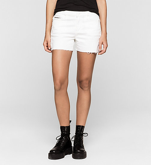 CKJEANS Cut-off Denim Shorts - INFINITE WHITE COMFORT - CK JEANS Up to 50% - main image