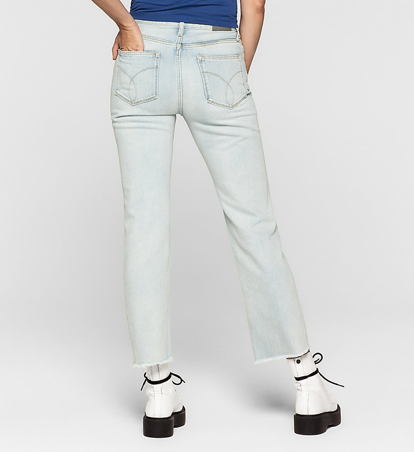 CKJEANS High Rise Straight Cropped Jeans - FREEDOM BLUE - CK JEANS CLOTHES - detail image 1