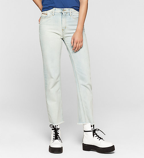 High Rise Straight Cropped Jeans - FREEDOM BLUE - CK JEANS CLOTHES - main image
