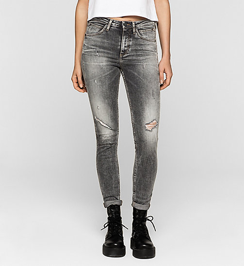 CKJEANS High Rise Sculpted Skinny Jeans - BROKEN GREY - CK JEANS JEANS - main image