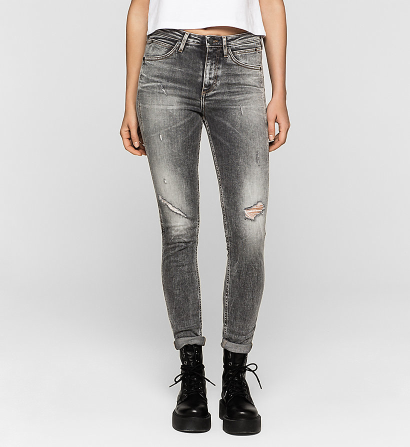 CKJEANS High-Rise Sculpted Skinny-Jeans - BROKEN GREY - CK JEANS KLEIDUNG - main image