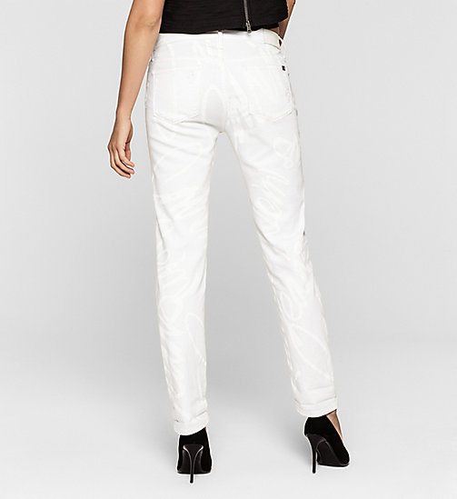 Slim Boyfriend Graffiti Jeans - WHITE GRAFFITI - CK JEANS  - detail image 1