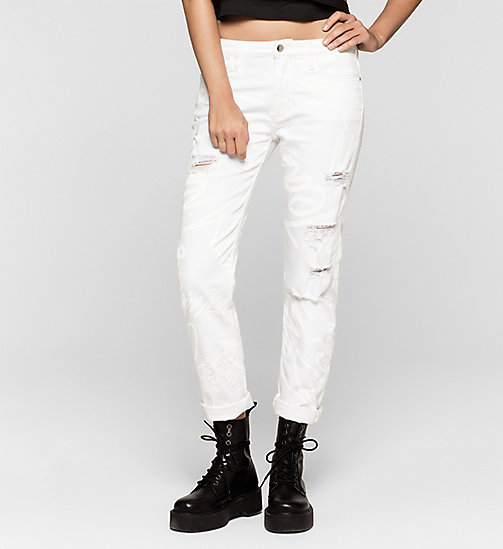 Slim Boyfriend Graffiti Jeans - WHITE GRAFFITI - CK JEANS  - main image