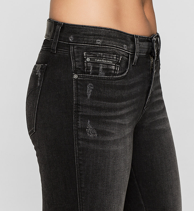 CKJEANS Mid Rise Skinny Twisted Jeans - NIGHTRIDER - CK JEANS CLOTHES - detail image 2