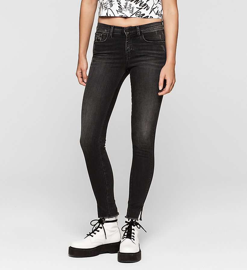 CKJEANS Mid Rise Skinny Twisted Jeans - NIGHTRIDER - CK JEANS JEANS - main image