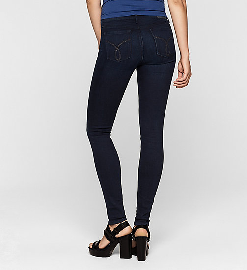 CKJEANS Mid Rise Super Skinny Jeans - BLUE MARINE - CK JEANS  - detail image 1