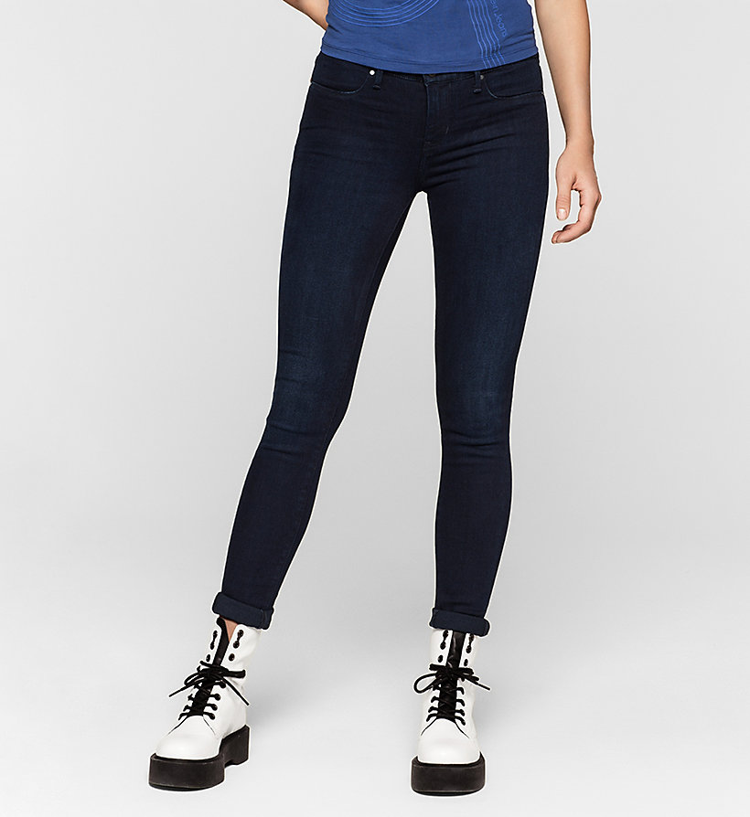 CKJEANS Mid Rise Super Skinny Jeans - BLUE MARINE - CK JEANS CLOTHES - main image