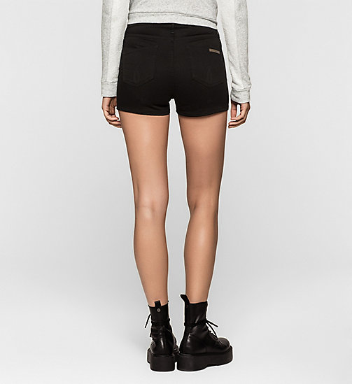 Sculpted Denim Shorts - INFINITE BLACK - CK JEANS SHORTS - detail image 1
