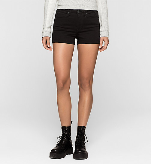 Sculpted Denim Shorts - INFINITE BLACK - CK JEANS SHORTS - main image