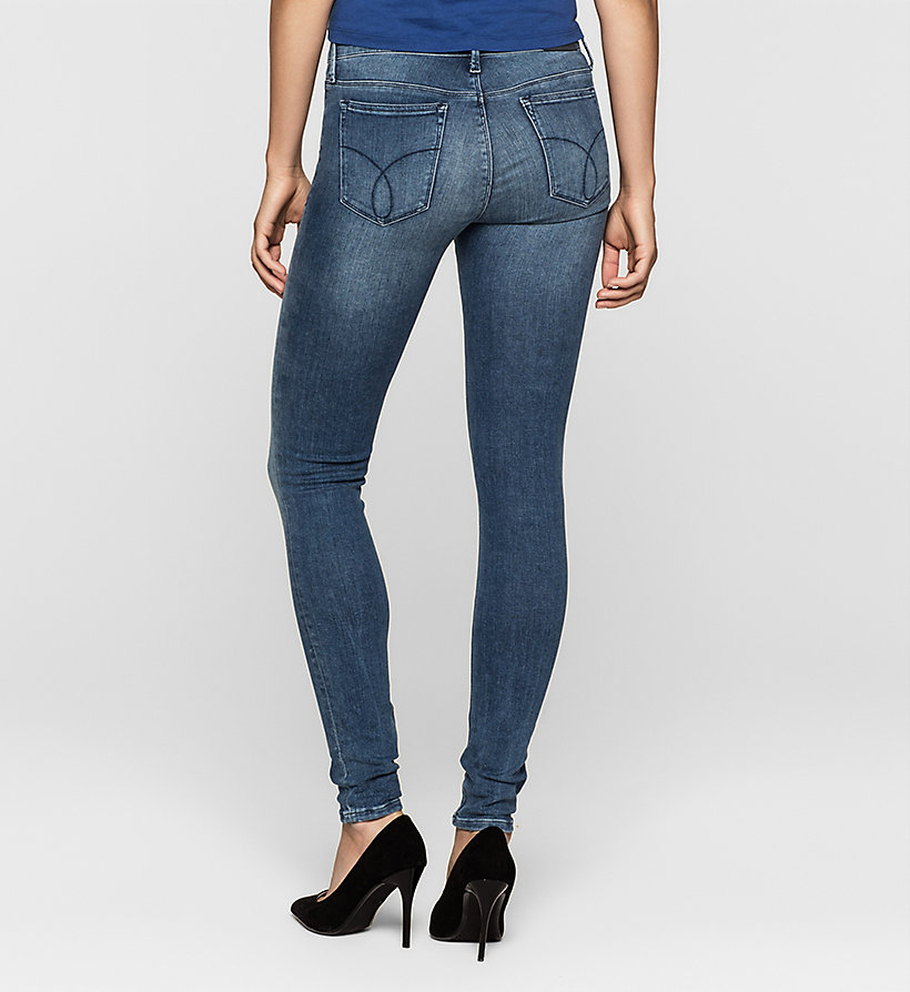 CKJEANS Mid Rise Super Skinny Jeans - STATIC BLUE - CK JEANS JEANS - detail image 1