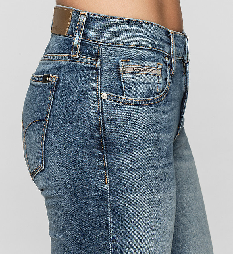 CKJEANS Mid rise straight cropped jeans - MOROCCAN BLUE - CK JEANS JEANS - detail image 2