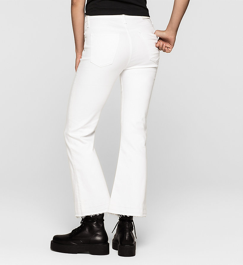 CKJEANS High Rise Cropped Flare Jeans - INFINITE WHITE - CK JEANS JEANS - detail image 1