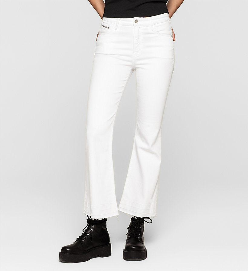 CKJEANS High Rise Cropped Flare Jeans - INFINITE WHITE - CK JEANS JEANS - main image