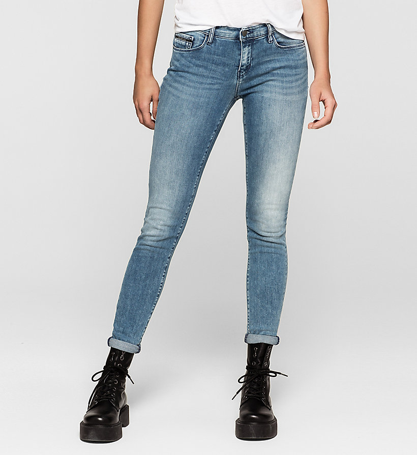 CKJEANS Mid Rise Skinny Jeans - YESTERDAY BLUE - CK JEANS JEANS - main image