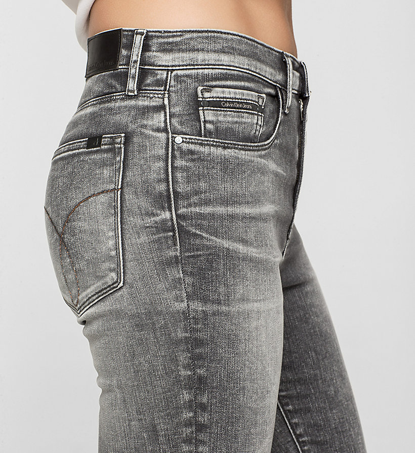 CKJEANS High Rise Skinny Jeans - BROKEN GREY - CK JEANS CLOTHES - detail image 2