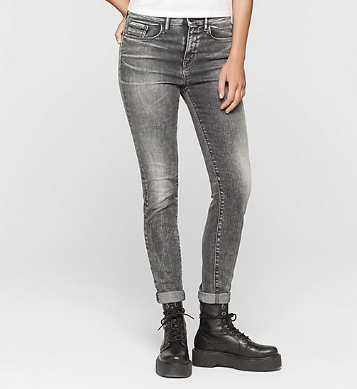CKJEANS High Rise Skinny Jeans - BROKEN GREY - CK JEANS JEANS - main image