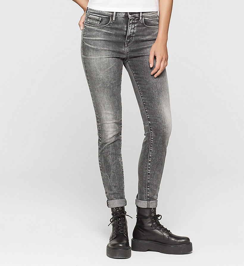 CKJEANS High Rise Skinny Jeans - BROKEN GREY - CK JEANS CLOTHES - main image