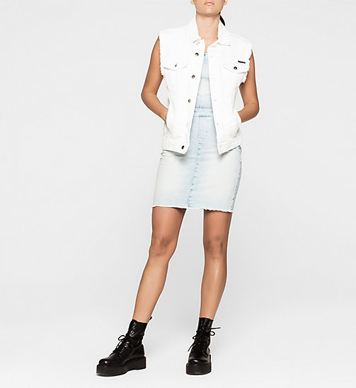 CKJEANS Denim Dungaree Dress - COAST BLUE - CK JEANS DRESSES & SKIRTS - detail image 1