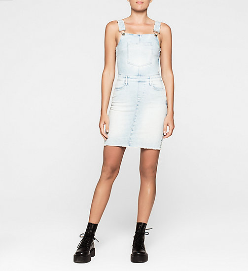 CKJEANS Denim Dungaree Dress - COAST BLUE - CK JEANS DRESSES - main image
